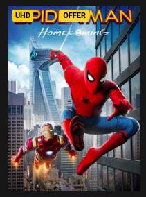 Spider-Man: Homecoming UHD - £6.99 @ Rakuten
