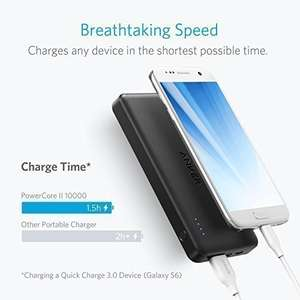 Anker PowerCore II Slim 10000 Ultra Slim Power Bank only £22.39 @ Sold by AnkerDirect and Fulfilled by Amazon with voucher code