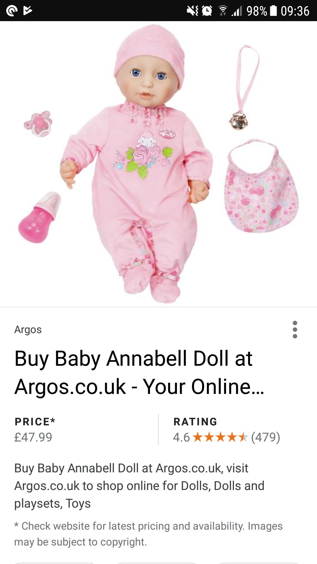 Baby annabell amazon - £34.87