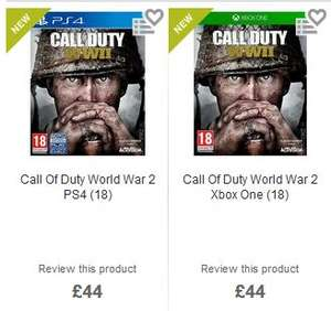 COD WW2 XBOX + PS4 - Morrisons have the game for £44