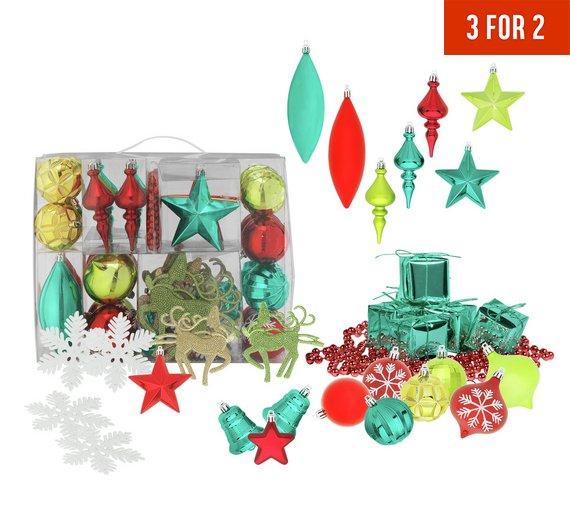 48 Piece Festive Fun Bauble Pack £1.49 @ Argos
