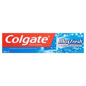 Colgate Max Fresh With Cooling Crystals 100ml £1 was £2.49 @ Ocado