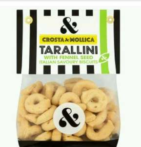 2x Crosta & Mollica Tarallini with fennel seed £1.68  (was £1.99 each) , Buy 1 get 2nd half price promotion + coupon + PYO @ Waitrose
