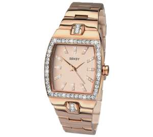 Seksy ladies rose gold plated watch £29.99 - Argos