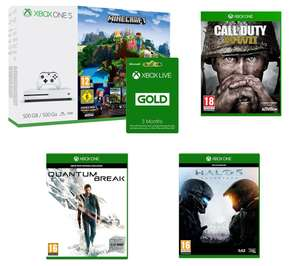 Xbox One S, MineCraft, Call Of Duty WWII, Halo 5, Quantum Break, 3 Month Live £200 @ Currys