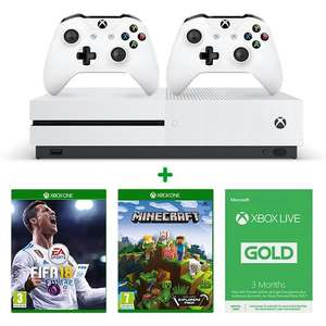 Xbox One S 500GB + additional controller + FIFA18 + Minecraft + 3months xbox live £219.99 -  smyths toys