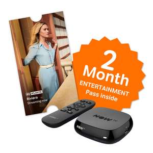 NOW TV BOX + 2 Month Entertainment pass + Sky Store Voucher - £10.85 - Shopto (Movies box also)