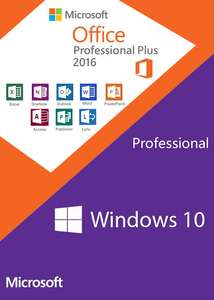 Windows10 PRO OEM + Office2016 Professional Plus Keys - SCDKey - £31.14