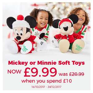 Disney store Christmas mickey or Minnie for £9.99 (should be £20.99) when spending over £10 + free personalisation -  Lots of other offers to stack (£3.95 del)