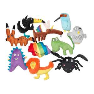 Ikea Sagoskatt toys - designed by children £3-5 each. Full purchase price given to charity.