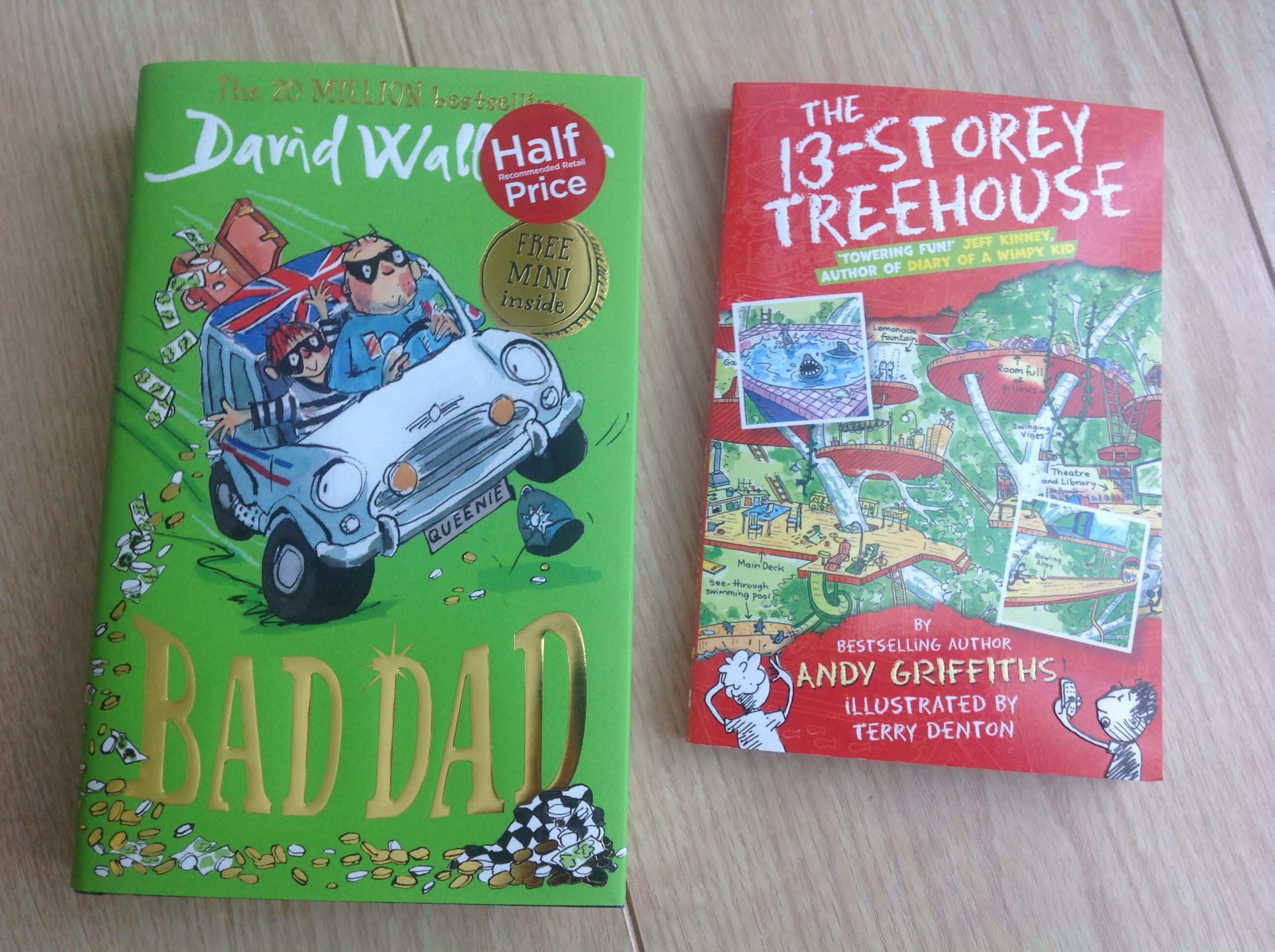 WHSmith David Walliams Bad Dad half price £6.49  and free book