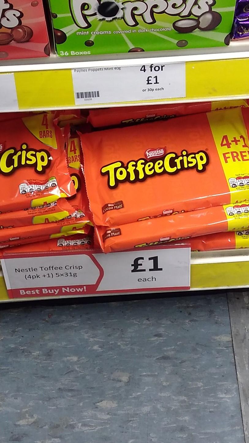 5 Toffee Crisps for £1 in Heron Foods