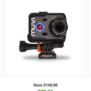 Veho VCC-006-K2S Muvi K-Series Sports Bundle Wi-Fi Handsfree Action Camera £79.99 @ Zavvi
