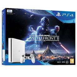PlayStation 4 500GB Glacier White with Star Wars Battlefront II pre order @ Game £229.99