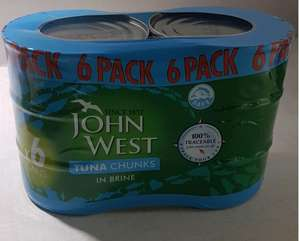 John West Tuna Chunks in Brine 6 pack £3 Instore @ Asda