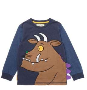 Upto half price sale now instore and online eg Gruffalo long sleeved tee was £8 now £4, 2 piece baby set was £9.now £4.50 more in post @ Sainsburys TU clothing