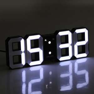 Digoo DC-K3 Multi-Function Large 3D LED Digital Wall Clock Alarm Clock With Snooze Function 12/24 Hour Display £7.25 Delivered with code @ Banggood
