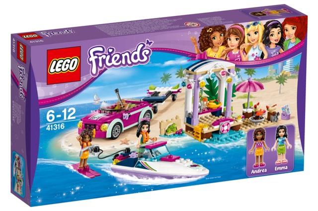 Lego Friends 41316 Andrea's Speedboat transporter £14.53 prime / £19.28 non prime (RRP £24.99, 42% saving)  Amazon