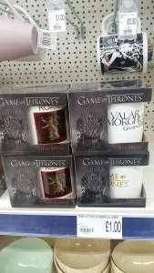 Assorted game of thrones mugs £1.00 instore at poundworld