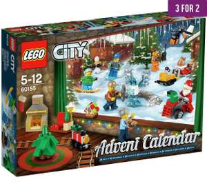 Argos 3 for 2 on lego advent calenders £19.99 - £39.98 for 3 (works out £13.34 each)