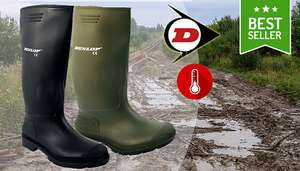 Dunlop Waterproof Thermal Wellies - 2 Colours - £9.99 + £3.99 del @ GoGroopie