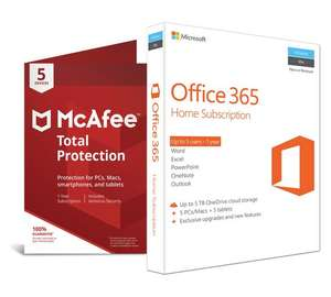 Microsoft Office 365 Home and McAfee TP - 5 Devices £59.99 @ Argos