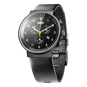 Braun Men's Quartz Watch with Chronograph Display and Leather Strap Black/Black @ Amazon £57.60 & FREE Delivery