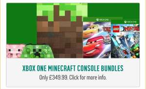Xbox One S Minecraft Special Edition Console with free controller or two free games £349.99 at Argos