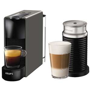 Nespresso Essenza Mini Intense Coffee Machine by KRUPS with Aeroccino. Eligible for £75 worth of free coffee. John Lewis for £99
