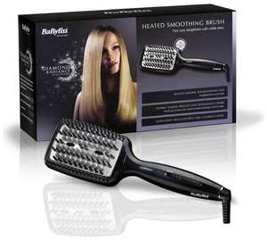 BaByliss Diamond Heated Smoothing and Straightening Brush + 3 year guarantee - £31.99 with code @ Argos