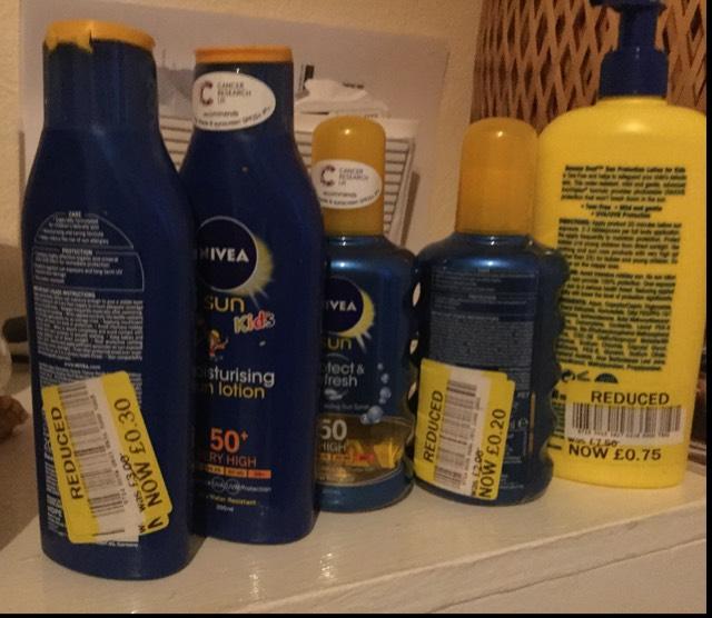 Various suntan lotion deals tesco Barnstaple from 30p