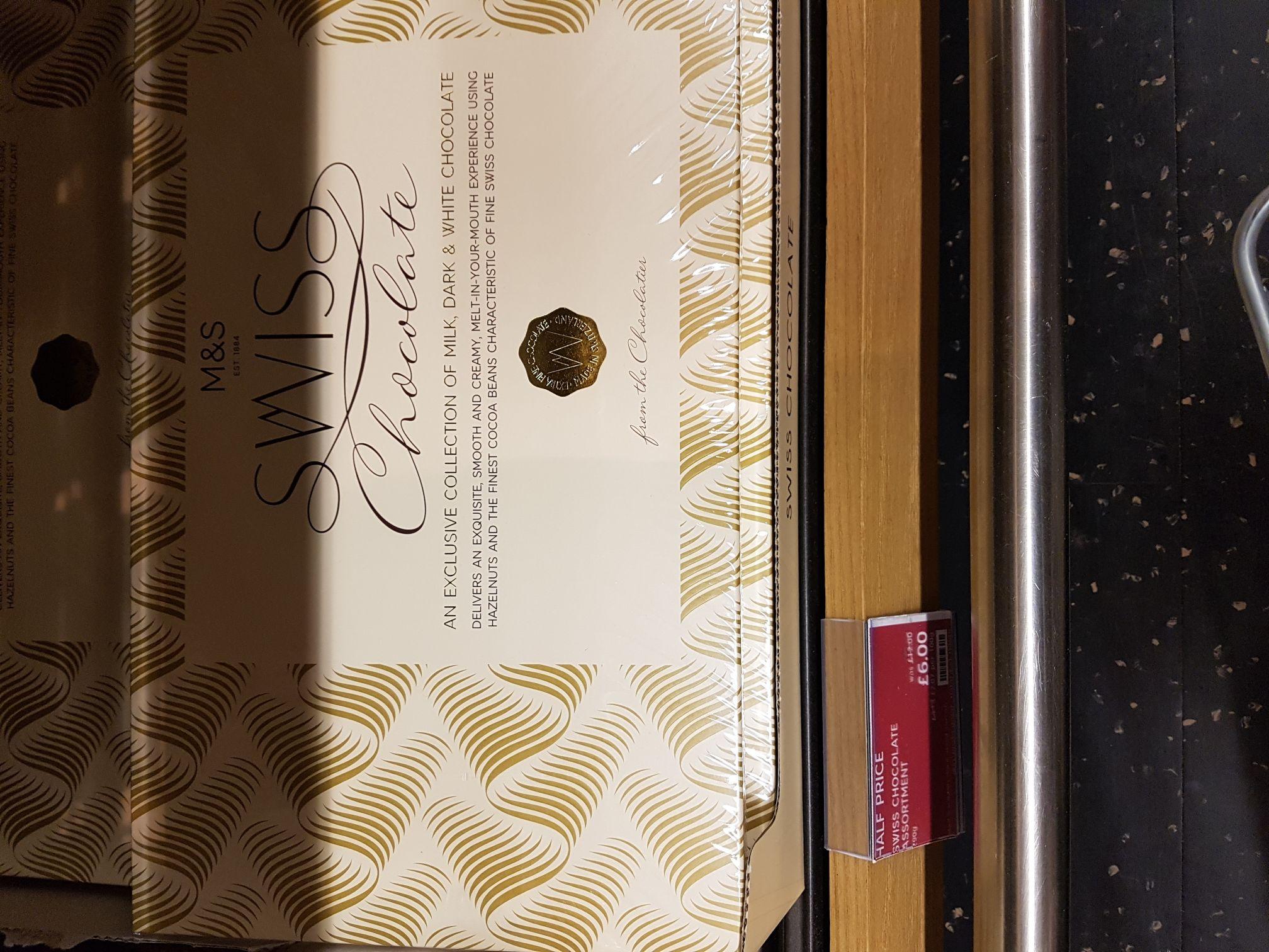 M&S Swiss Chocolate 750g only £6 @ M&S