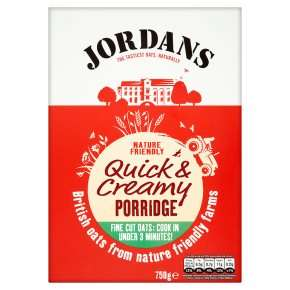 750g Jordans Porridge - Quick & Creamy/Chunky Traditional Jumbo oats £1 @ Waitrose