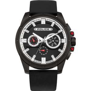 Police Mens Watch with Black Leather Strap now only £89 & Free Delivery @ Watches2U (Using code)