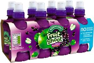 Robinsons Fruit Shoot Low Sugar Blackcurrant & Apple (8 x 200ml) was £2.96 now £1.50 @ Morrisons