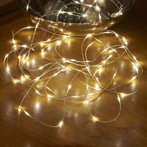 50 Warm White LED String Lights 5M - 76p delivered w/code @ Gearbest