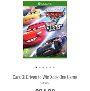 Disney Cars 3 Driven to Win XBOX ONE Reduced and in the 3 for 2 at Argos - £24.99