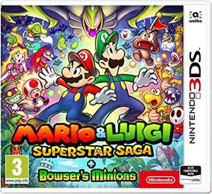 Mario and Luigi: Super Star Saga + Bowser's Minions Nintendo 3ds/2ds £24.95 @ Amazon