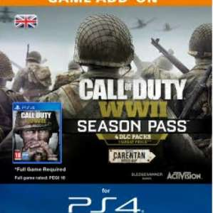COD WWII Season Pass (PS4) £34.19 with 5% FB code @ CDKeys