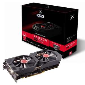 XFX AMD Radeon RX 580 4GB OC+ Graphics Card, £228.10 from Ebuyer