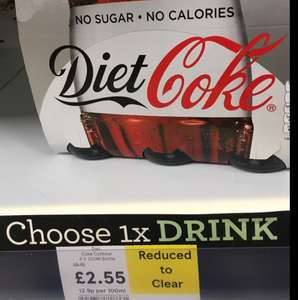 Diet Coke x6 Bottles - £2.55 instore @ Tesco (Radlett)