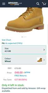 Children's Timberland boots amazon £48