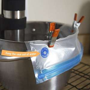 Food Vacuum Sealer Bags , SIEGES 15 BPA Free Sous Vide Bags with 1 Hand Pump. £12.74 Prime Sold by SIEGES and Fulfilled by Amazon