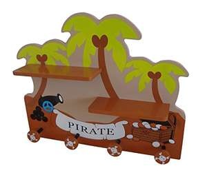 Bebe Style Children's Wooden Pirate Wall Mounted Shelf and Coat Hanger £10 delivered @ Kiddy Products.  Amazon