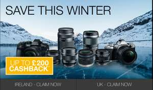 Olympus Cashback - UK & Ireland (see eligible products and amounts)
