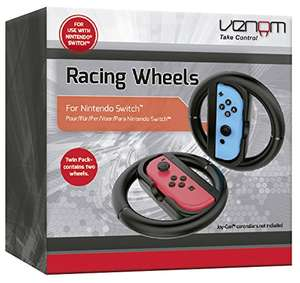 Venom Switch Racing Wheel Twin Pack (Nintendo Switch) £9.99 (Prime) £11.98 (Non-Prime) Delivered @ Amazon
