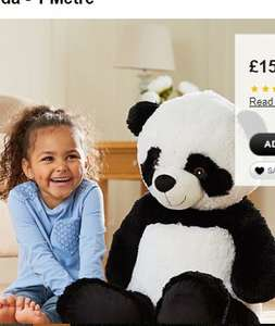 100cm Giant Panda £15 C+C @ Asda George (also same size Monkey / Unicorn / Teddy / Dog / Elephant £15 each / Giant Polar Bear £20)