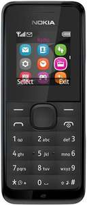 Nokia 105 Unlocked Sim Free Mobile Phone @ 7dayshop £16.99 delivered