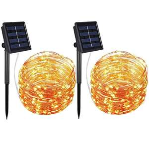 AMIR Solar Fairy String Lights [Energy Class A+] - £11.98 (Prime) with £5 off promo (£15.97 non Prime) - Sold by One Retail Group and Fulfilled by Amazon
