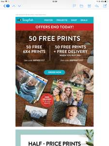 Snapfish 50 Free prints with £2.99 p+p
